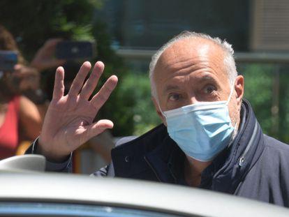 José Luis Moreno sale de la Audiencia Nacional tras quedar en libertad, este jueves.