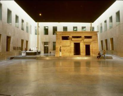 El templo de Taffeh, en el Museo Nacional de Antigüedades en Leiden, Países Bajos.