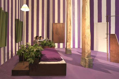 Vista de la exposición de Deborah Bowmann comisariada por Mario Canal en Nadie Nunca Nada No en 2017.