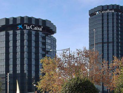 Oficinas de CaixaBank en Barcelona.