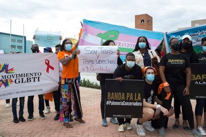 Manifestación a favor de los derechos LGTBI en Santo Domingo el 10 de diciembre de 2020, Día Internacional de los Derechos Humanos. Pincha en la imagen para ver la galería completa.