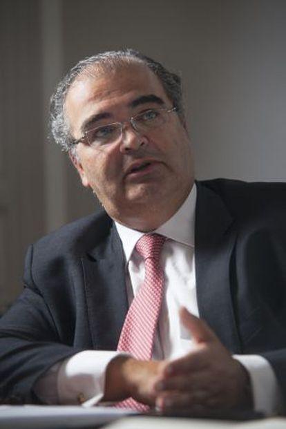 Ángel Ron, presidente del Banco Popular durante la entrevista.