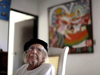 El literato nicaragüense Ernesto Cardenal.