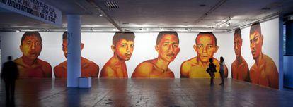 'Sem título' del brasileño Éder Oliveira en la Bienal de São Paulo.