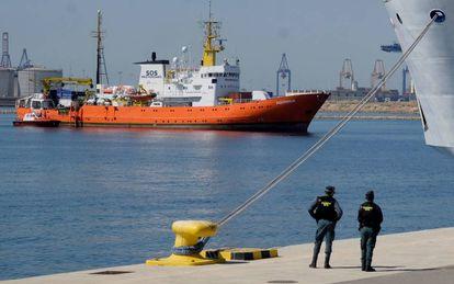 El barco 'Aquarius' llega a Valencia el 17 de junio.