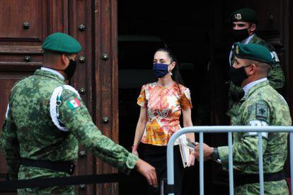 Claudia Sheinbaum tras la reunión con el presidente López Obrador y el ingeniero Carlos Slim.