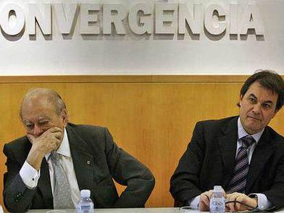 Jordi Pujol y Artur Mas en una reunión de la ejecutiva de CDC, en 2008.