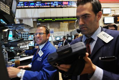 Operadores de la Bolsa de Nueva York, el pasado jueves.