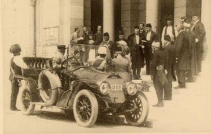 El archiduque con su esposa en Sarajevo el 28 de junio de 1914.