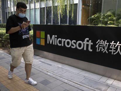 La oficina de Microsoft de Pekín, en agosto de 2020.