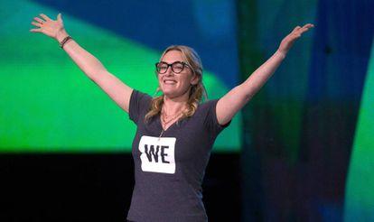 Kate Winslet durante su discurso en WE Day UK, el pasado 22 de marzo.