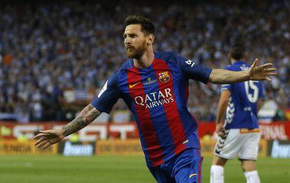 Messi, en la final de la Copa del Rey.