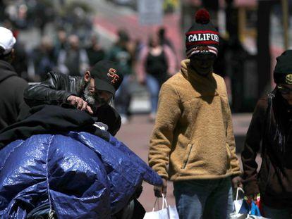 Una persona sin hogar, en San Francisco.