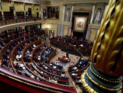 Hemiciclo del Congreso de los Diputados, en Madrid.