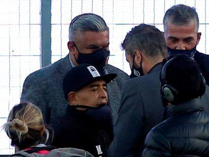 Diego Armando Maradona, el pasado 30 de octubre, el día de su cumpleaños, en el estadio Juan Carlos Zerillo.