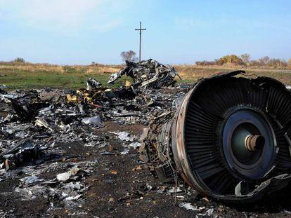 Los restos del vuelo MH17, estrellado cerca de Rassipnoe (Ucrania), en julio de 2014.