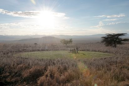 El Savannah Circle, un proyecto del dúo de paisajistas en el parque natural de Lewa, en Kenia.