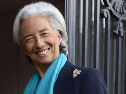 La directora del FMI, Christine Lagarde, antes de declarar.