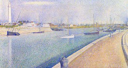 'El puerto de Gravelines' (1890), paisaje puntillista de Seurat.