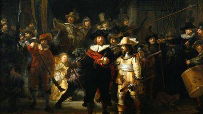 La ronda de noche de Rembrandt.