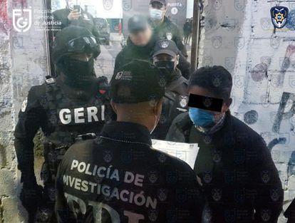 Hora de la detención de Édgar Tungüí en la Ciudad de México, este jueves por la mañana.