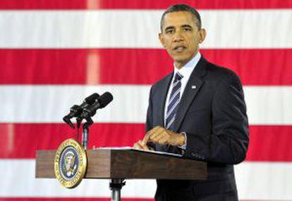 El presidente Obama, durante un discurso este viernes en Arlington.