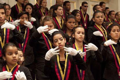 El coro de Manos Blancas esta semana en Salzburgo.