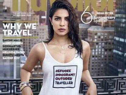 Portada de la revista 'Traveller' con Priyanka Chopra.