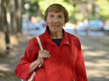 Paloma Díaz-Mas, en julio de 2020 en Vitoria.