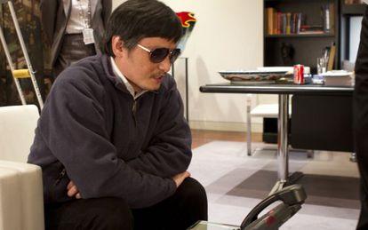 El activista Chen Guangcheng, en una foto del pasado día 2 de mayo facilitada por la Embajada de Estados Unidos en China.