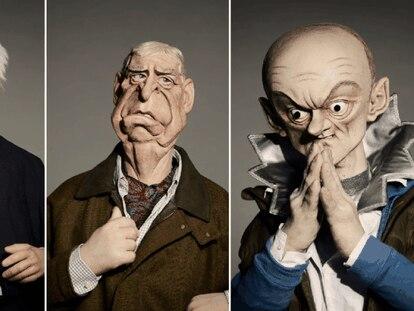 Las marionetas de Boris Johnson, el príncipe Andrés y Dominic Cummings en la nueva edición de 'Spitting Image'.