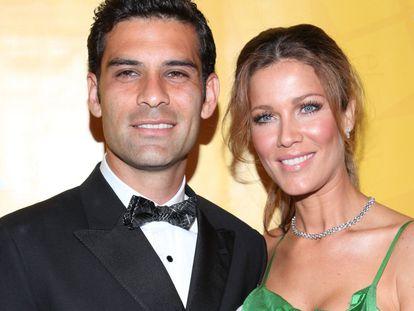 Rafa Márquez y Jaydy Mitchel en una fiesta en Nueva York en mayo de 2012.