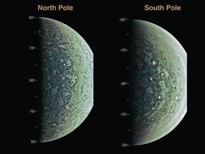 Imágenes de los polos de Júpiter tomadas por la sonda 'Juno'