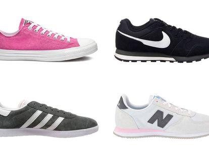 Marcas como Converse, Nike, Adidas o New Balance tienen zapatillas que son clásicos de la moda urbana.