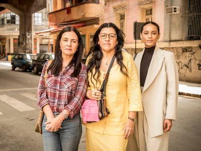 Las protagonistas de la telenovela 'Amor de mãe'.