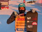 El rider español Lucas Eguibar se ha proclamado por vez primera campeón del mundo de Snowboard. RFEDI 11/02/2021