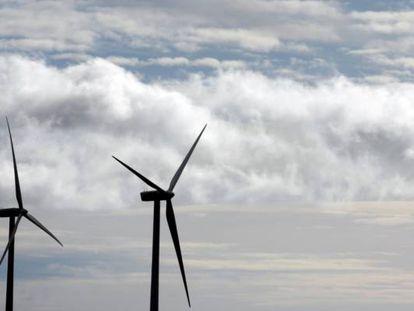 Una planta de molinos de viento propiedad de Iberdrola, en Moranchón (Guadalajara).