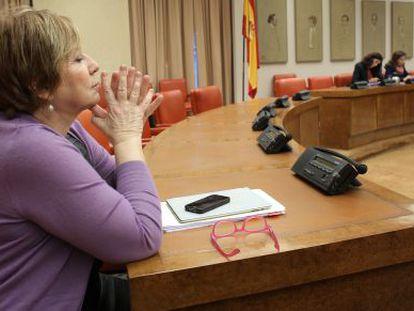 Celia Villalobos, vicepresidenta primera del Congreso, el 16 de enero de 2014.