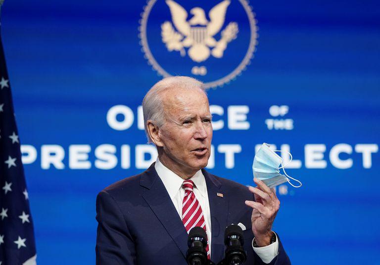 El presidente electo Joe Biden, durante una aparición el lunes en Wilmington, Delaware.