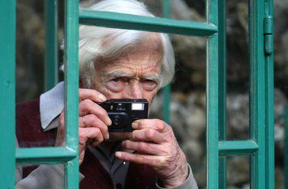El fotógrafo Marc Riboud a los 85 años.