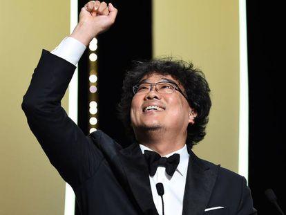 Bong Joon-Ho, tras recibir la Palma de Oro. En vídeo, tráiler de 'Parasite'.