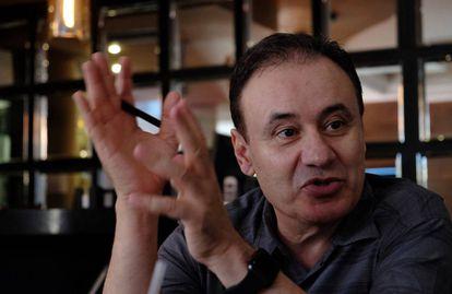 Alfonso Durazo durante la entrevista con EL PAÍS en Ciudad Juárez