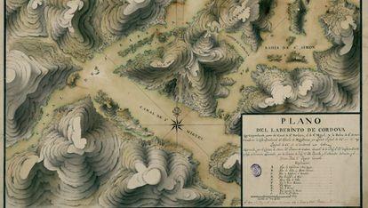 Exposición 'Cartografías de lo desconocido', en la Biblioteca Nacional de España.