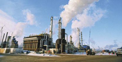 Planta de tratamiento de hidrógeno en Canadá.
