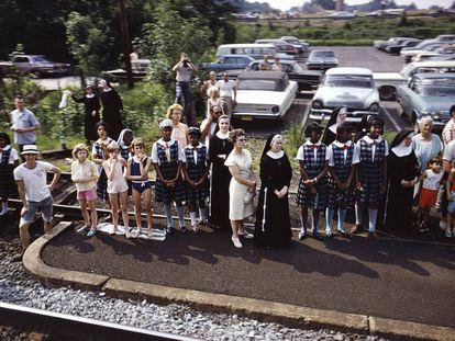 Fotografía 'sin título' de la serie 'RFK Funeral Train', 1968.