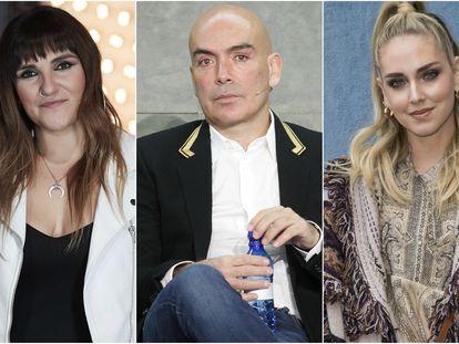 Rozalen, Kike Sarasola y Chiara Ferragni.