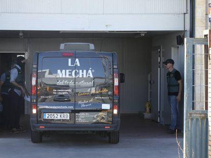 La furgoneta de La Mechá, incautada por la Guardia Civil.