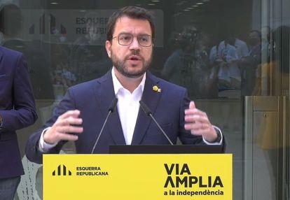 El presidente en funciones de la Generalitat y candidato de ERC a la Presidencia, Pere Aragonès.
