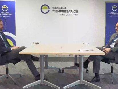 El presidente del PP, Pablo Casado, se reúne con Manuel Pérez-Sala, presidente del Círculo de Empresarios en Madrid. TAREK (PP)