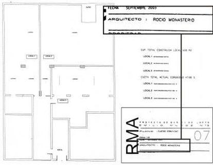 Otro plano en el que Rocío Monasterio asegura que es arquitecta, aunque no firme en el cajetín.